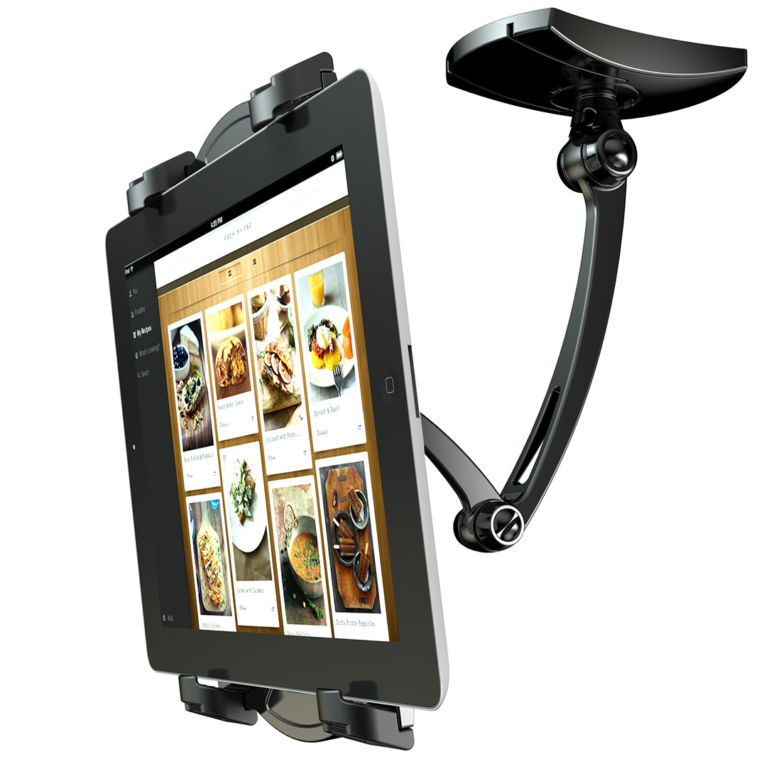 Loctek 2-In-1 kitchen mount iPad stand holder cookbook stands X7