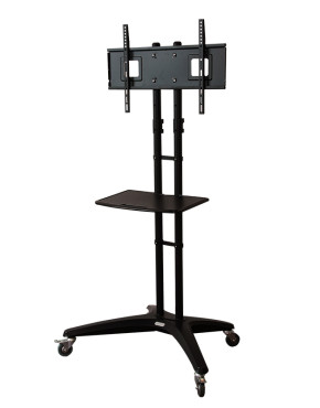 Loctek P3C Cart for LCD LED Plasma Flat Panels Stand with Wheels Mobile Fits 32''-65''