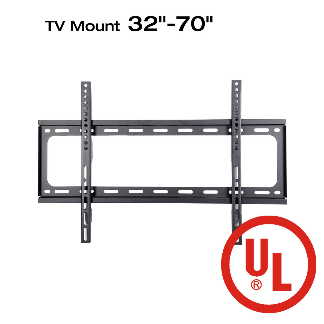 "Loctek F2M UL Certified Fixed Flat Panel TV Wall Mount Bracket for 32-70"" LED/LCD TV"