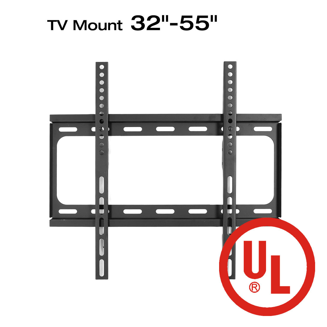 Loctek F2S UL Certified Fixed Flat Panel TV Wall Mount Bracket for Most 32-Inch to 55-Inch LED LCD TV, Black