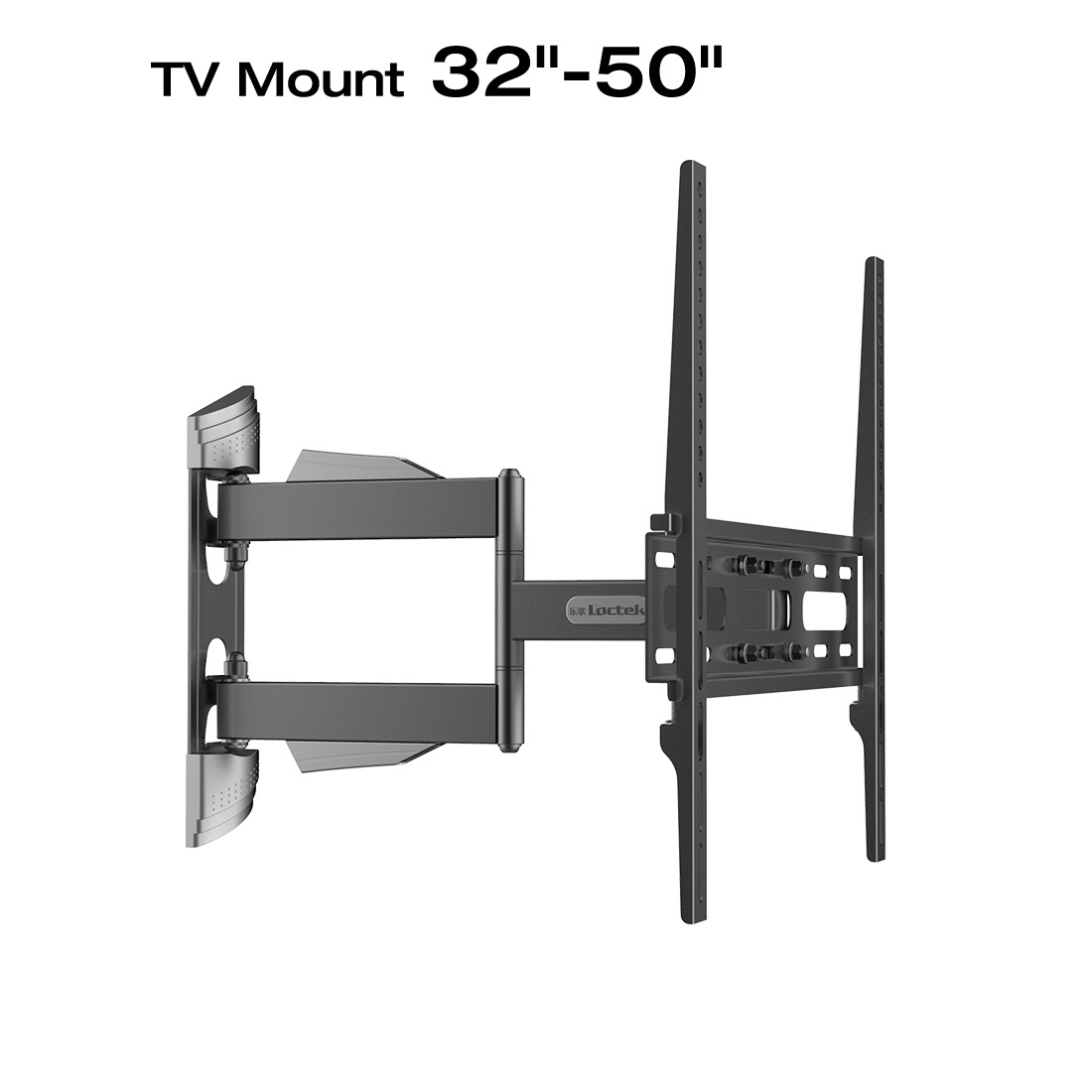 Loctek L3 Full Motion TV Wall Mount Bracket Articulating for 32-50 Inch TV Up to 55lb, Black