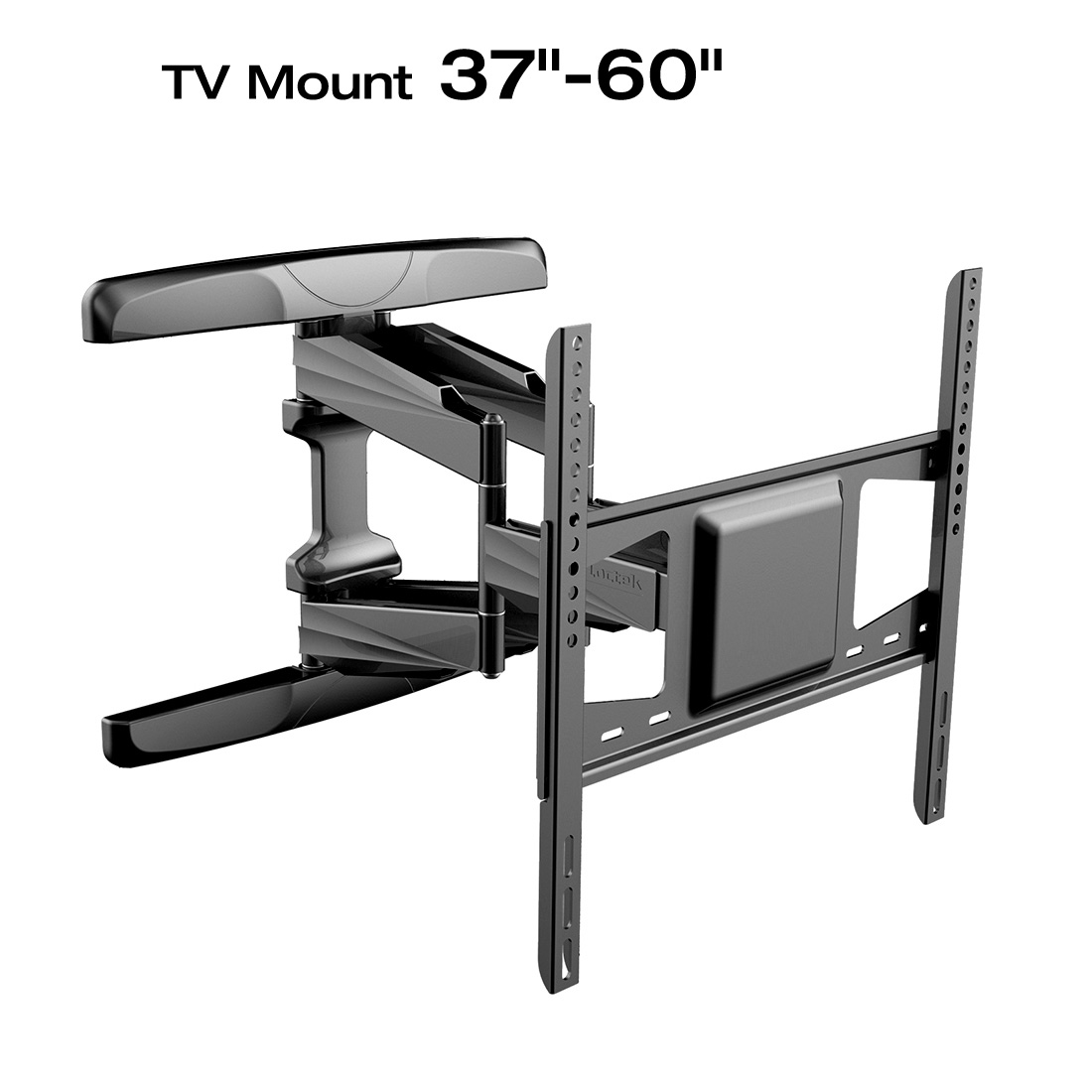 Loctek L5 Full Motion Wall Mount Bracket Articulating for 42-60 TV, Black