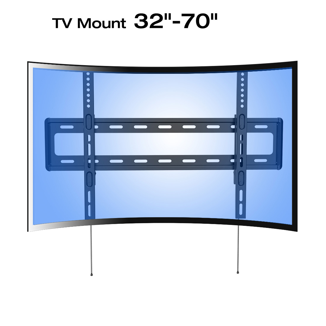 loctek r1 panel tv wall mount bracket for lcdu0026led samsung curved uhd hdtv - Tv Mount