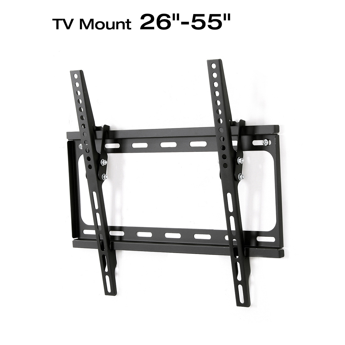 Loctek T1S Tilt Flat Panel Wall Mount Bracket for 26-55 TV, Universal Hole Pattern