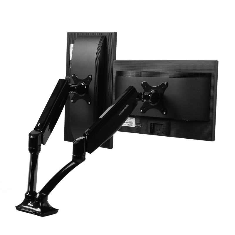 Loctek dual monitor desk mount stand vesa mount for two computers with USB port D5DU