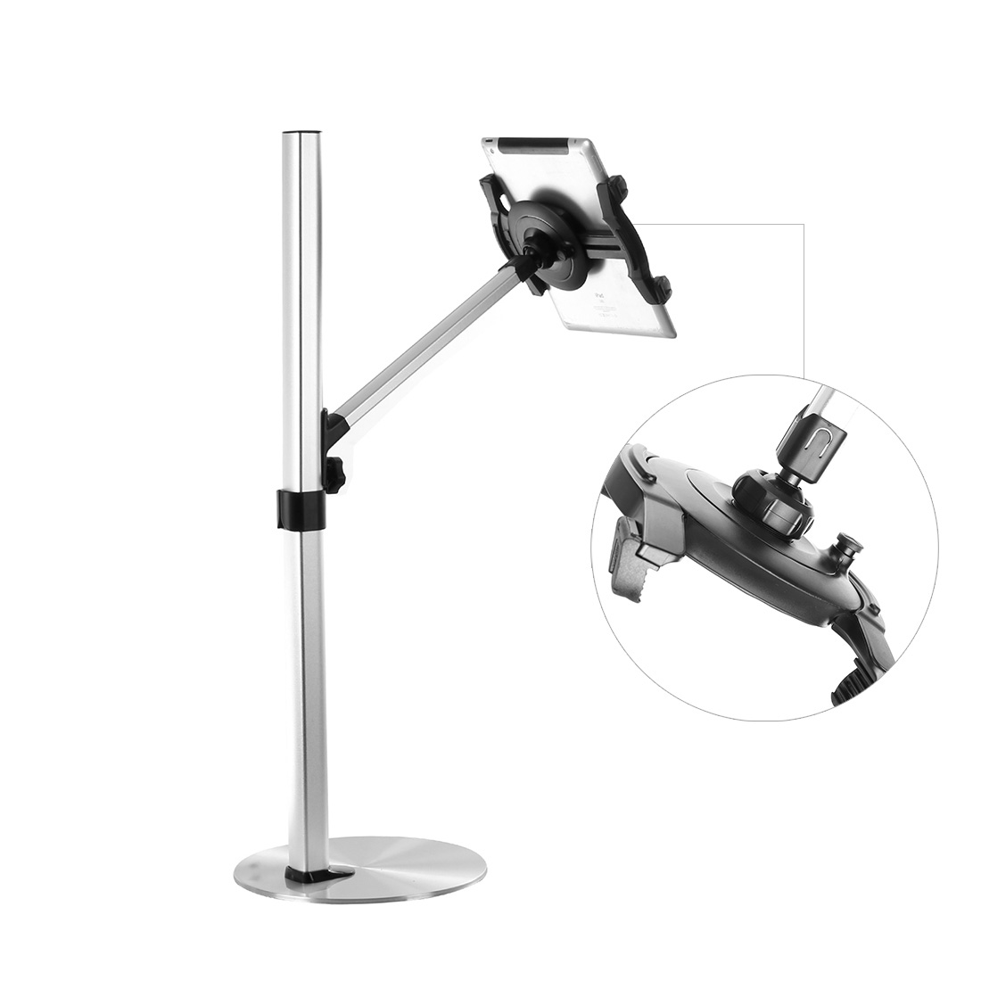 Loctek height adjustable floor standing tablet stand mount X2N