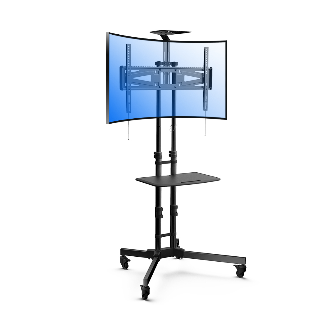 LOCTEK P3R UNIVERSAL MOBILE CURVED TV CART TV STAND FOR LED, LCD, PLASMA(32''-65'' , 88LBS)