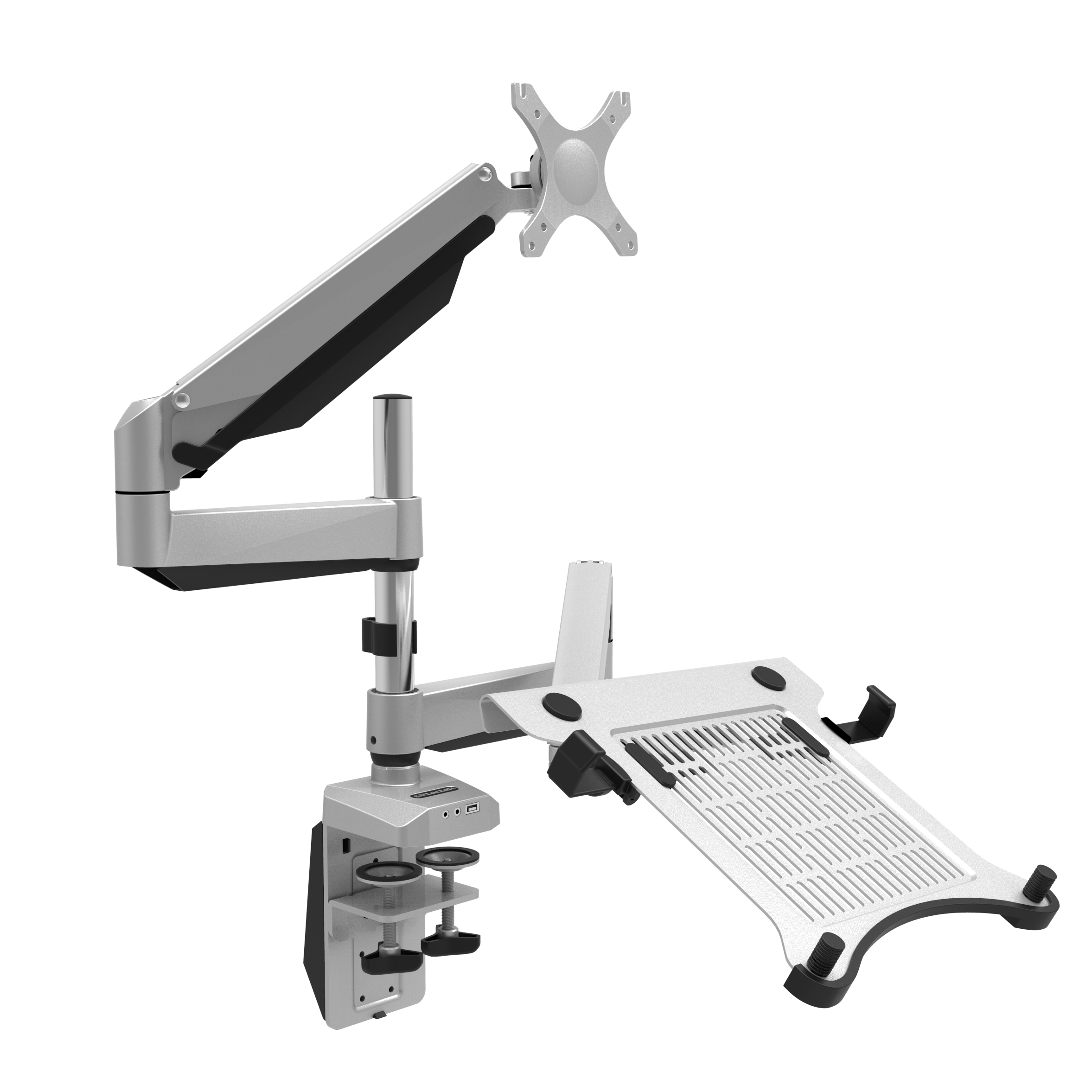 LOCTEK D7DP 2-IN-1 FULL MOTION GAS SPRING DUAL MONITOR ARM DESK MOUNTS FOR LAPTOP & MONITOR