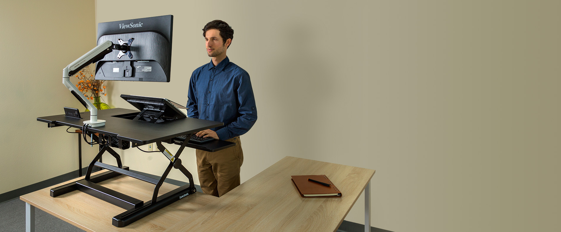 Loctek | Sit-stand desk risers, height adjustable desks