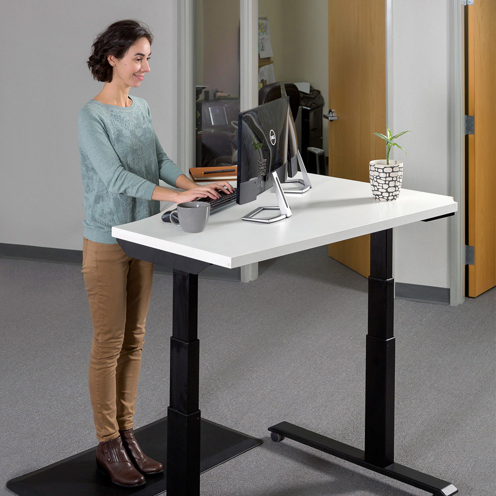 adjustable option desk large height desks manual crank index